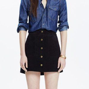 Madewell x Daryl K Suede Snap Button Mini Skirt
